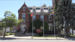 The town hall in Aylmer is seen on Wednesday, Aug. 5, 2020. (Bryan Bicknell / CTV London)