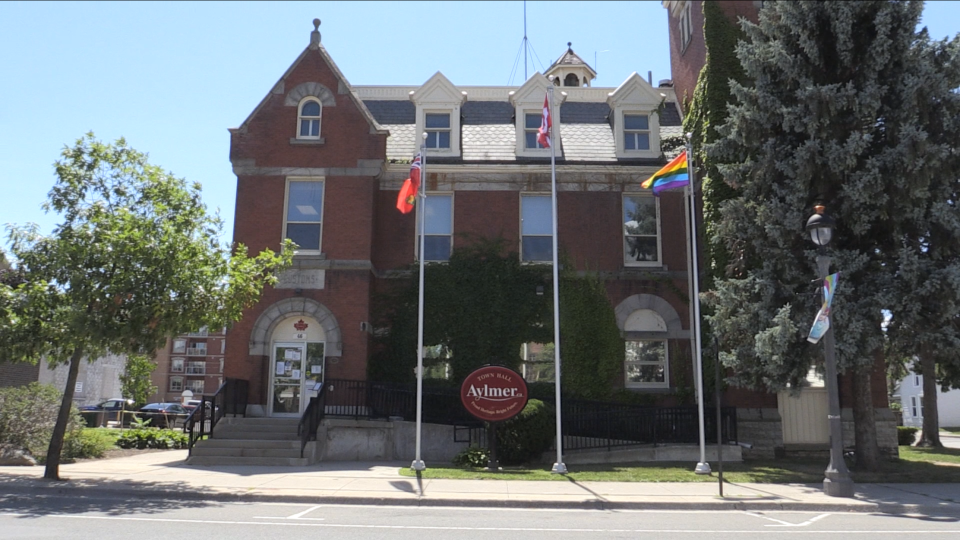 The town hall in Aylmer is seen on Wednesday, Aug. 5, 2020.