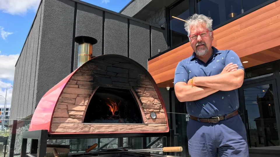 Chef D takes us through how to make wood fired pizza (Dan Lauckner / CTV News Kitchener)