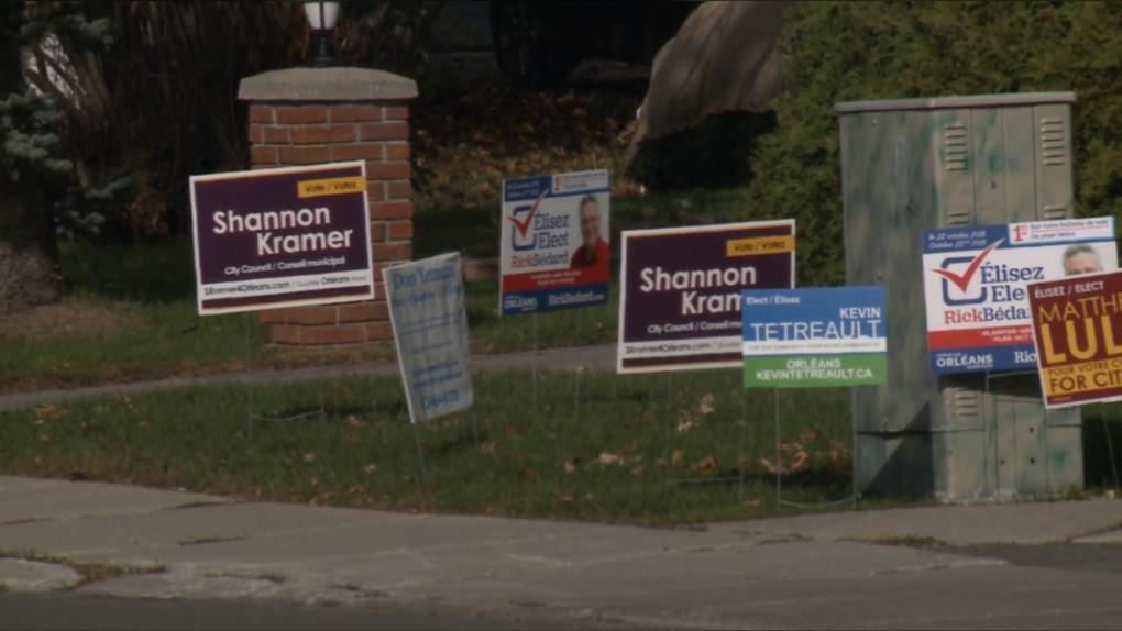 Ottawa municipal election signs