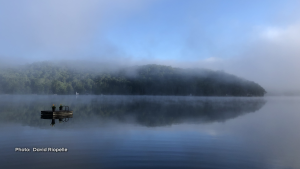 Mont-Tremblant misty day on the lake. (David Riopelle/CTV Viewer)