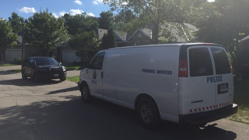 Police are investigating after human remains were found in Brantford (Matthew Ethier / CTV News Kitchener)
