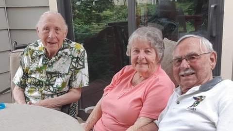 Sandy Pearce's father, mother and stepfather are seen in this undated photograph. (Provided by Sandy Pearce)