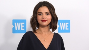 Selena Gomez arrives at WE Day California on April 19, 2018, in Inglewood, Calif. (Photo by Richard Shotwell/Invision/AP, File)