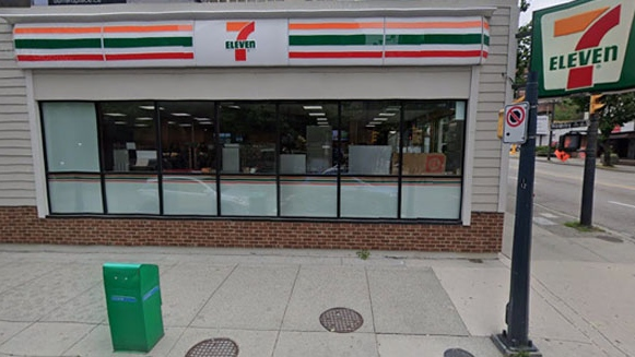 The 7-Eleven on Davie Street near Hornby in Vancouver is seen in this image from Google Maps.