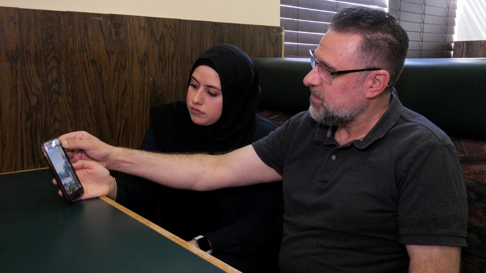 Regina residents Houda and Kamal Hammoud say they were shocked when they learned of the explosion in Beirut on Tuesday. (Marc Smith/CTV Regina)