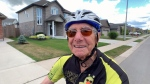 Bill Wall, 92, is training for the Ride to Conquer Cancer, set for later this month.