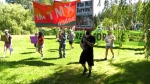 Protesters support physician's tree-sit