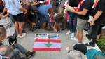 Vigil for Lebanon in Montreal on Aug. 5, 2020