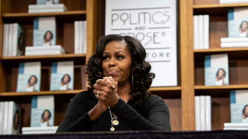 Former First Lady Michelle Obama says coronavirus quarantine, racial strife and the Trump administration has her suffering from 'low-grade depression'. (AFP)