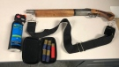 Bear spray and a loaded shotgun were found inside the vehicle after an RCMP pursuit that began on Frog Lake First Nation. (Supplied photo)
