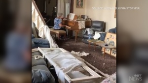A Beirut woman bids farewell to her home with a solemn yet touching piano rendition among the wreckage of her apartment destroyed by Tuesday's explosion