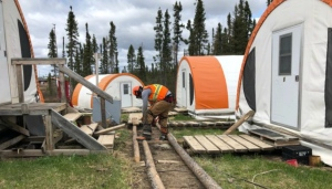 Noront's Esker Site, which is located in the James Bay Lowlands, closed in April because of the COVID-19 pandemic. (Noront photo)