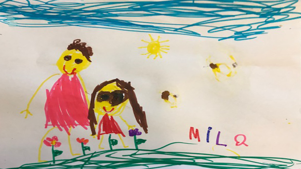 Mila Distefano, 4 years old, Junior kindergarten at St. Stephen school in Sttitsville