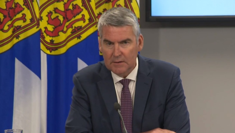 Nova Scotia Premier Stephen McNeil announces plans to step down as premier and leave politics during a press briefing in Halifax on Aug. 6, 2020.