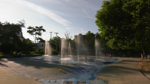 Splash park at Strathcona.