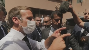 French President Macron visits Beirut