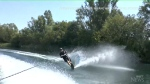 A British man told he should not water-ski because he suffers macular degeneration celebrated his 80th birthday by practicing his favourite sport.