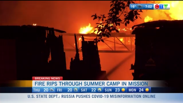 Fire rips through summer camp