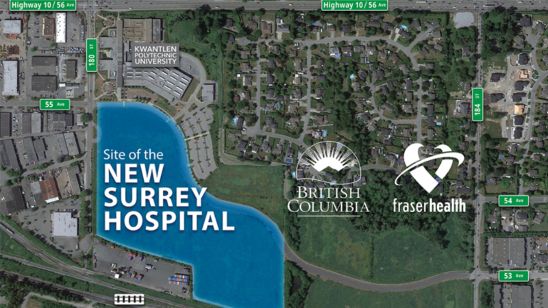 New hospital being built in Surrey, B.C. (Fraser Health)
