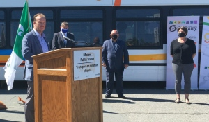 In addition to $39.7 million in federal money, Ontario is providing more than $33.1 million to the projects, while the City of Greater Sudbury is contributing more than $26.4 million. The money will go to five different projects in an effort to improve public transit and encourage more people to use the city system. (Alana Pickrell/CTV News)