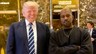 Donald Trump with Kanye West in 2016