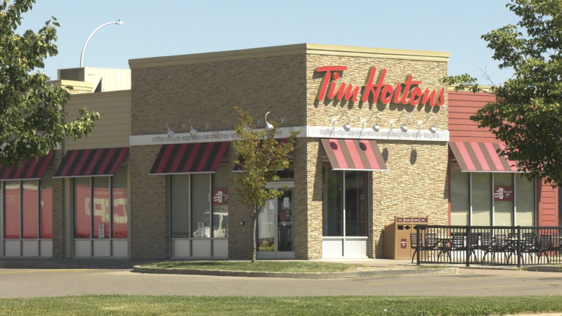 A Tim Hortons restaurant in Regina located on Park Street. (Katy Syrota/CTV News)