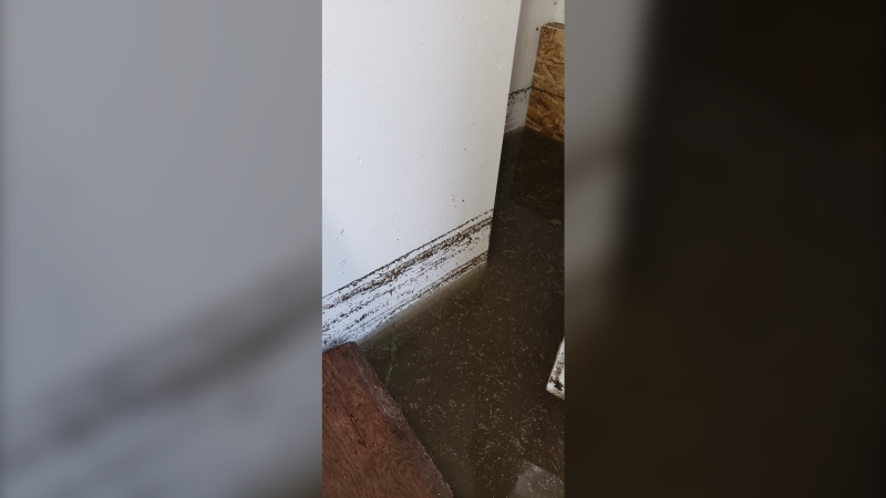 Flooding is pictured inside a home in the RM of Minto-Odanah  (All photos submitted by Allen Clow)