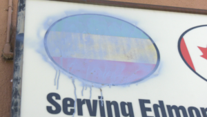 Edmonton police are investigating reports of vandalism and a break-and-enter at the Ethiopian-Canadian Community Association Building in the past two months. Aug. 6, 2020. (Darcy Seaton/CTV News Edmonton)