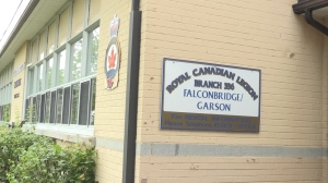 Officials with the Falconbridge Legion say they are not sure how long they can operate the way they are. July 17/2020 (Molly Frommer/CTV News Northern Ontario)