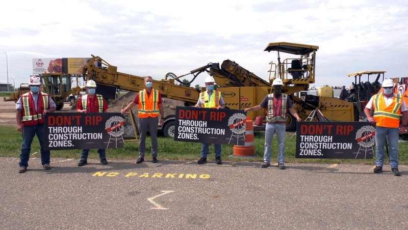 Lethbridge has revived its Don't RIP Through Construction Zones campaign this summer, to discourage speeders.