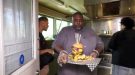 Two competitors went up against the two-pound Diabolical Burger. (Dale Cooper/CTV Saskatoon)