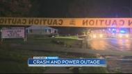 car crash power out
