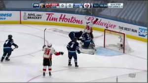 The Winnipeg Jets lost 4-0 to the Calgary Flames in Game 4 of the qualifying round.