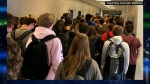 Hannah Watters, a student at North Paulding High School in Dallas, Georgia, took a photo of packed halls on the first day of school. Watters was suspended after the photo went viral. (Courtesy Hannah Watters)