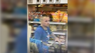 Police seeking suspect in this photo for alleged theft from Walmart. (courtesy Crime Stoppers)