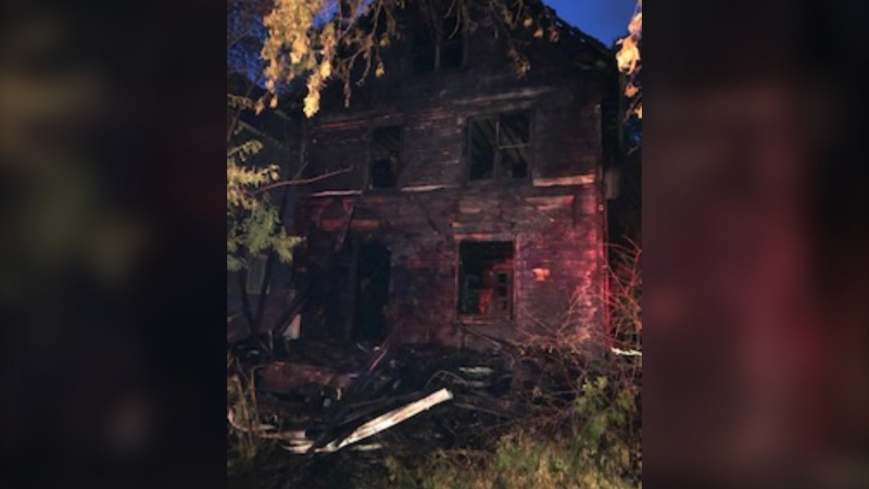 Multiple 911 calls came in from neighbours just before 2:30 a.m. Aug. 7 reporting that a two-and-half storey home in the 500 block of Albert Avenue. (Saskatoon Fire Department)