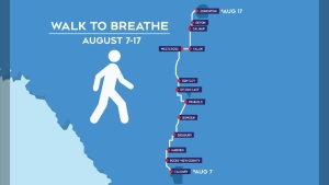 Walk to Breathe route