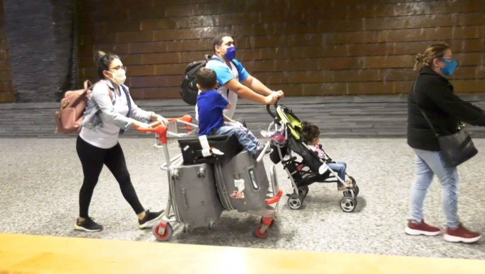 A family who spent six months in Venezuela have now arrived back home in Calgary.