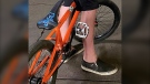 The youth's bike, an orange Mongoose BMX, has sentimental value considering it was gifted to him by his late father. (Supplied)