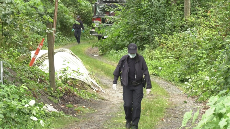 Mounties dismantled a drug lab in Langley on Aug. 6, 2020.
