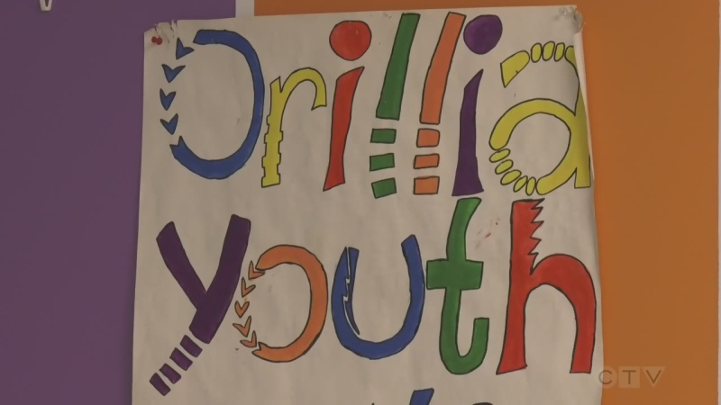 A sign at the Orillia Youth Centre on Friday August 8, 2020 (Lexy Benedict/CTV News)