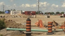 Protesters remain at housing construction site