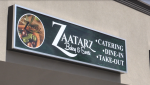 Zaatarz Bakery & Sweets gets ready for their grand opening on Tuesday, August 11, 2020 (Brian Snider / CTV News)
