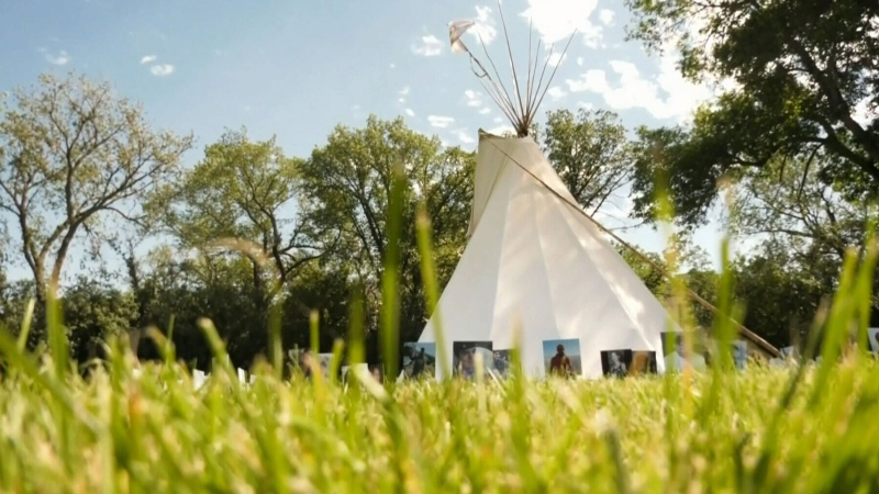 Wascana Park tipi reminiscent of former camp