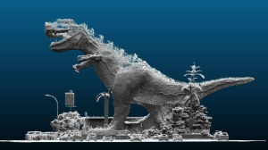 'The World's Largest Dinosaur' in Drumheller, Alta. was captured in a 3D scan, seen here. (Source: GeoSLAM)