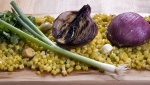 Cedar-grilled corn and red onion salsa is seen in this April 6, 2010 photo. THE CANADIAN PRESS/AP/Larry Crowe