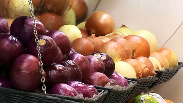 Onions are seen in this undated photo.