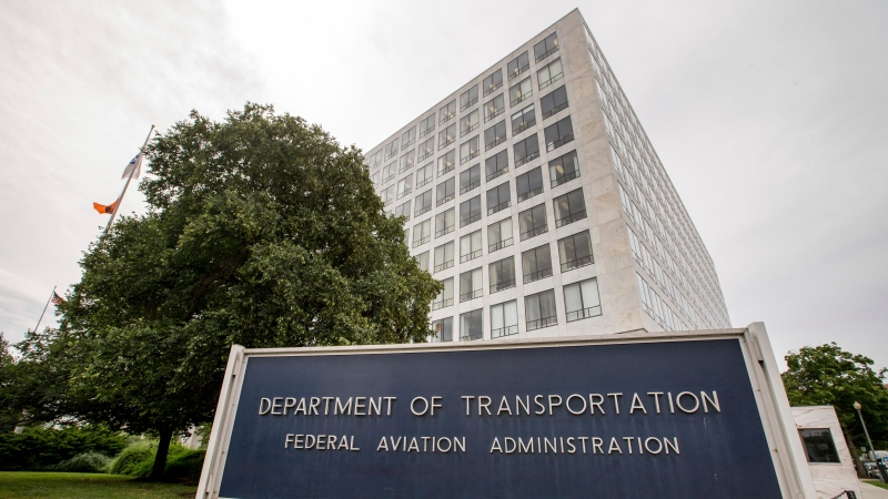 This June 19, 2015, file photo, shows the Department of Transportation Federal Aviation Administration building in Washington. Federal employees overseeing Boeing and other aircraft makers say they face pressure from the companies and fear retribution from their own bosses if they raise too many safety concerns, according to a survey of the workers that was delivered to Congress on Friday, Aug. 7, 2020. (AP Photo/Andrew Harnik, File)