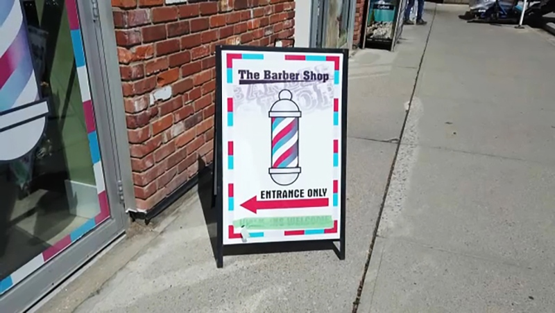 A Calgary barber has been receiving threats from people who mistook his shop for another that is alleged to have been involved in a hate motivated incident. Kathy Le reports.